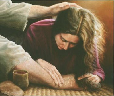 mary annointing jesus feet