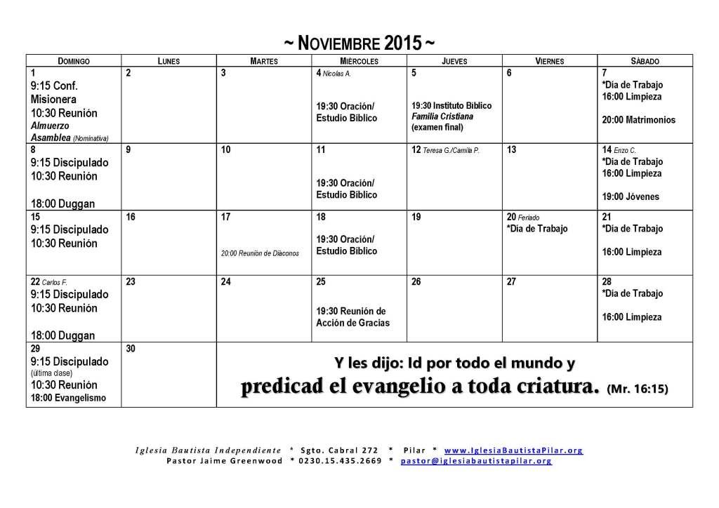 2015.11 Calendario