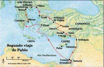 segundo viaje de Pablo